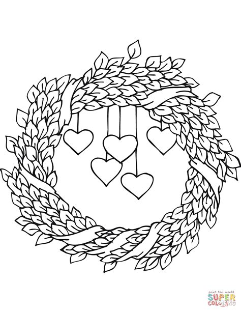 preschool wreath coloring page st valentine s day wreath coloring page free printable