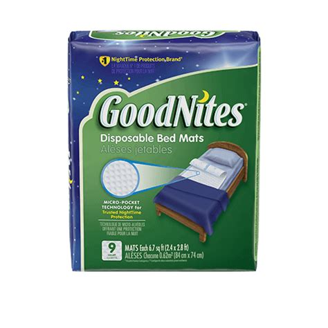Bedwetting Mats by Goodnites 174 Disposable Bed Mats Bedwetting Mattress Pads