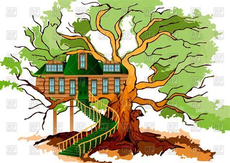 tree house clipart tree house on oak royalty free vector clip art image 77671 rfclipart