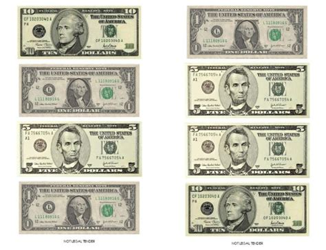 printable fake money pdf image gallery money template