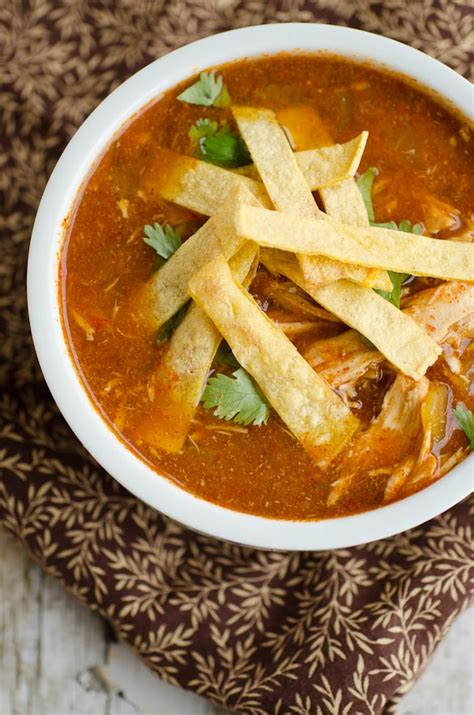 slow cooker crock pot chicken tortilla soup