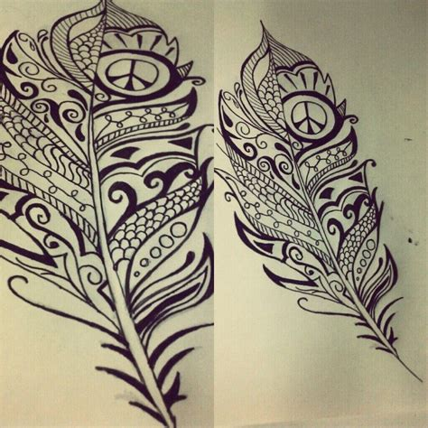 peace tribal tattoos feather drawing painting and more