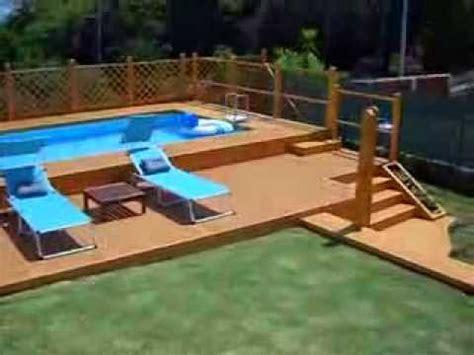 pedana di bosco prezzo piscina fuori terra 5x10 con solarium in legno