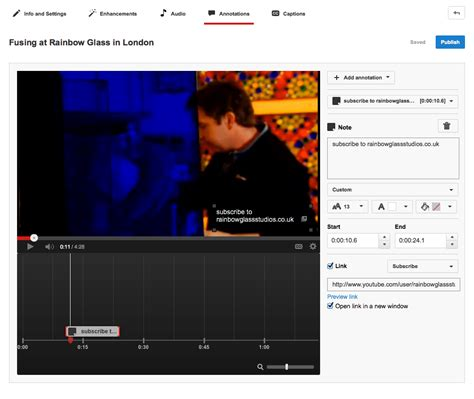 youtube layout timeline add links to youtube videos plus titles and subscription