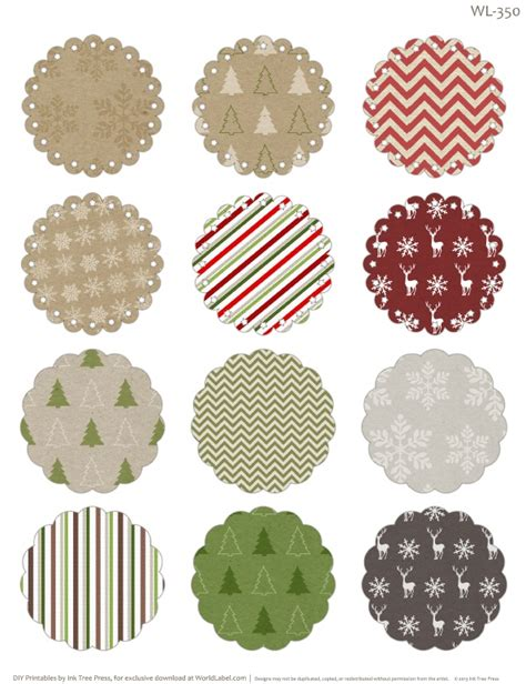 printable christmas round tags free printable round labels with editable fields ready