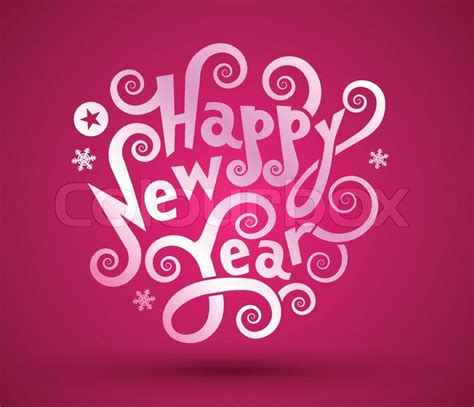 new years text happy new year text design stock vector colourbox