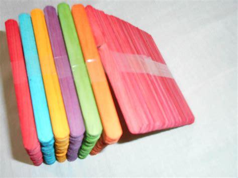 Stik Es Krim Stick Kreasi 5 Warna Food Grade 50pcs jual stik es krim warna warni zuka collection