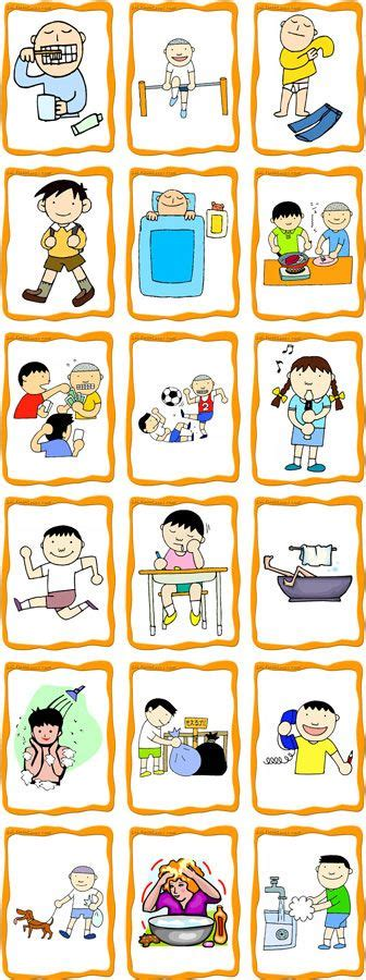 printable exercise flash cards a well language and activities on pinterest