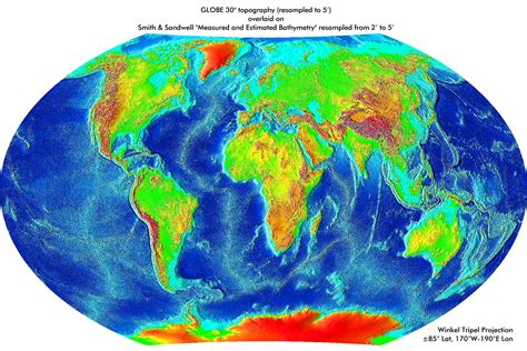 topographic map of the world index of library images science astronomy earth maps