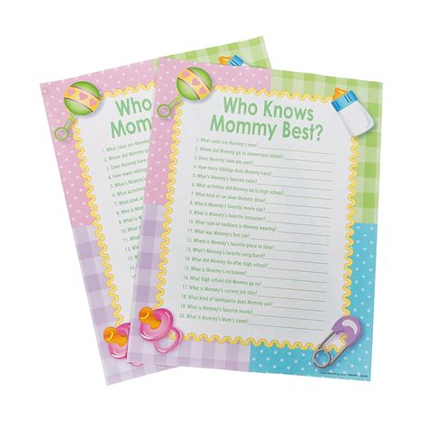 Knows Best Baby Shower by Who Knows Best Baby Shower 24ct