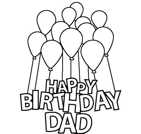 printable birthday cards to color for dad happy birthday dad coloring pages for kids birthday