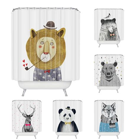 cartoon shower curtain wholesale custom cartoon animal shower curtain polyester