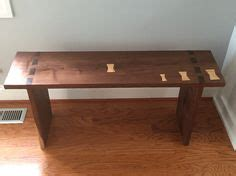 mortise and tenon bench black walnut mortise and tenon bench with spalted maple butterfly key joints
