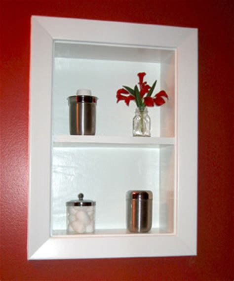 In Wall Bathroom Shelves by Uncover Space Make Recessed Shelves In Your Bathroom