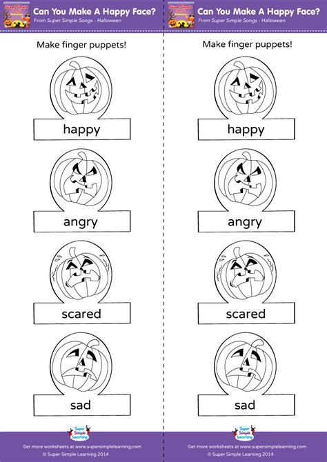 make a worksheet can you make a happy worksheet make finger puppets