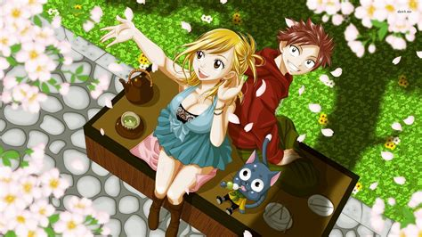 anime fairy tail lucy wallpaper fairy tail natsu and lucy wallpaper full hd anime hd