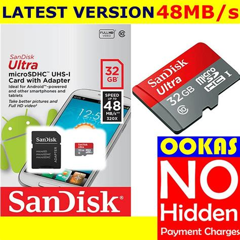 Micro Sd Sandisk Ultra 32gb sandisk 48mb s micro sd ultra class end 10 28 2018 2 52 pm