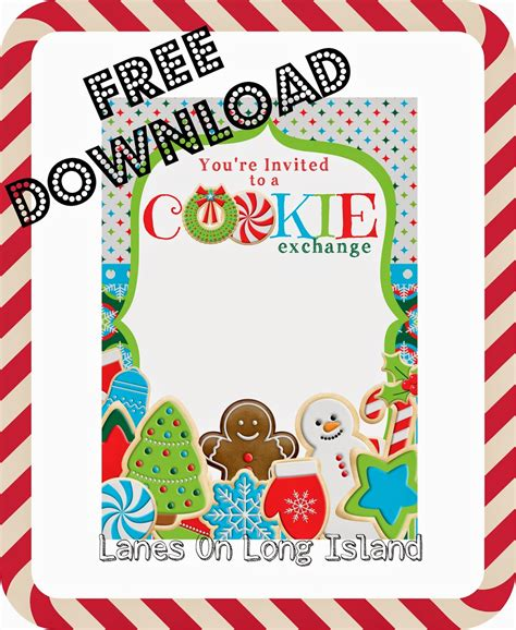 Lanes On Long Island Cookie Exchange Invitations Free Download Cookie Invitations Templates