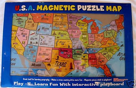 united states puzzle map usa learn states caps magnetic