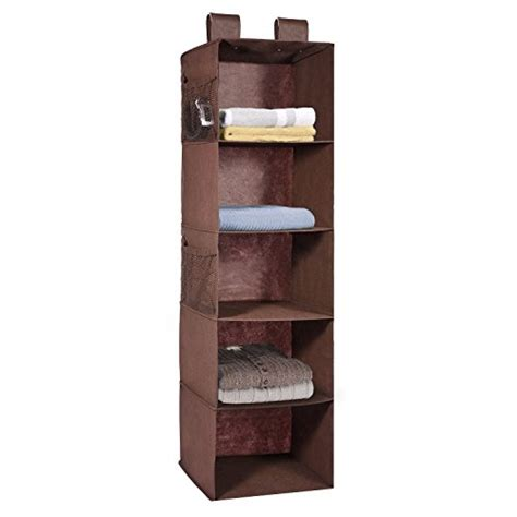 hanging closet organizer maidmax 5 shelf collapsible