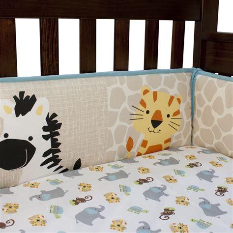 lambs zoomba 4 animal crib bumper
