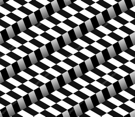 black and white checkered pattern 3d checkered black white vector seamless pattern stock