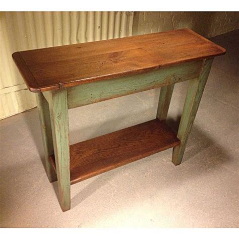 cottage home furniture barn wood tapered leg sofa table