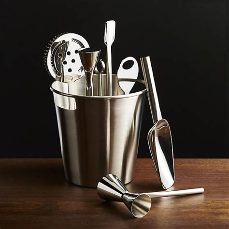 Bar Accessories For Bar Tool Set Silver Crate And Barrel