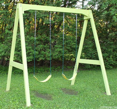 home made swing diy wood swingset
