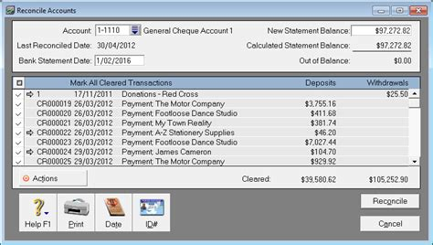 Sle Credit Card Reconciliation Report using bank and credit card accounts support notes myob