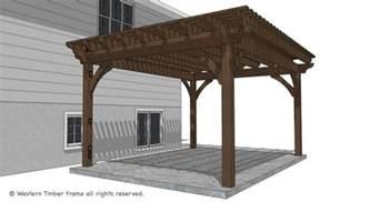 Timber Pergola Kit by 14 X 18 Timber Frame Diy Pergola Kit Replaces Wood