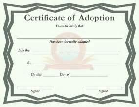 adoption certificate template free download speedy