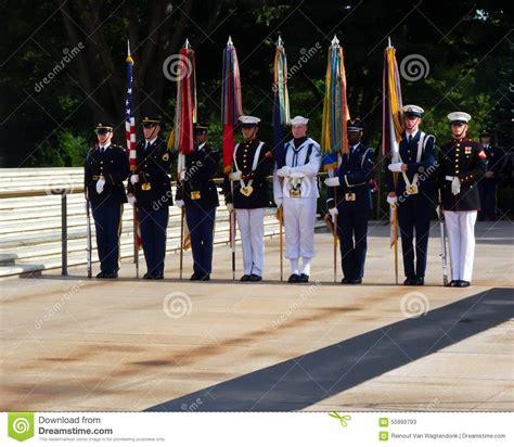 navy color guard color guard arlington editorial stock photo