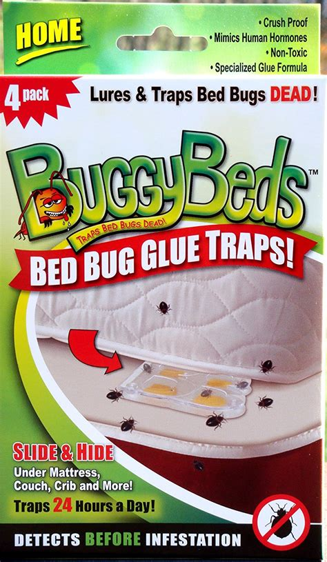 bed buggy bed bug trap buggybeds dorm glue traps 4 pack detect