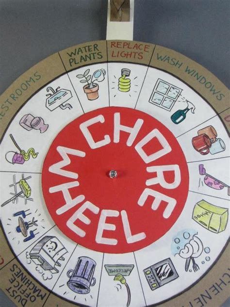 chore wheel template the office pam beesly fischer production used chore
