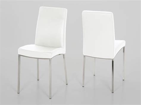 White Leather Dining Room Chair by Perfect Decision For Your Home Interior White Leather