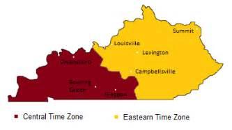 kentucky time zones map timebie