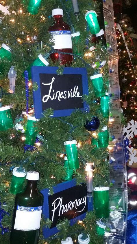christmas tree decorations for nurse graduate pharmacy themed tree holidays in the pharmacy