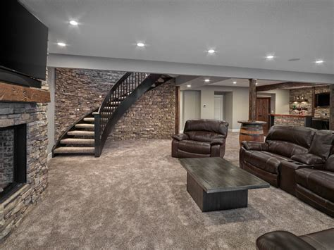 scondale home renovation modern basement edmonton