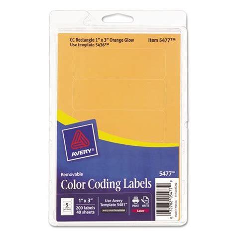 printable labels 1 x 3 printable removable color coding labels 1 x 3 neon