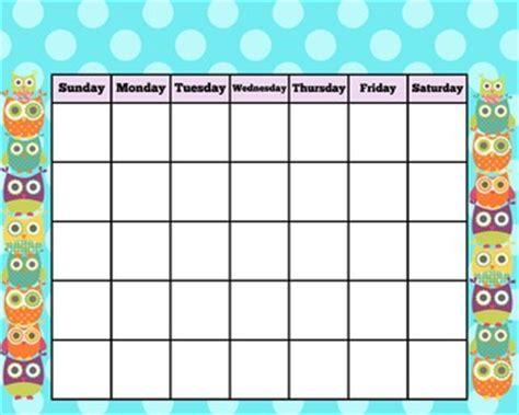 owl calendar template owl blank calendar 18 quot x24 quot blank calendar