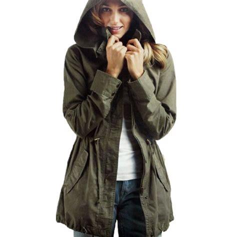 Jaket Ziper Grown imixcity s zip hoodie drawstring trench jacket fashion grow