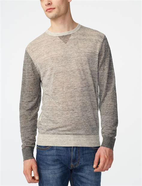 Sweater Distro 45 armani exchange pieced linen sweater crew neck for a x store
