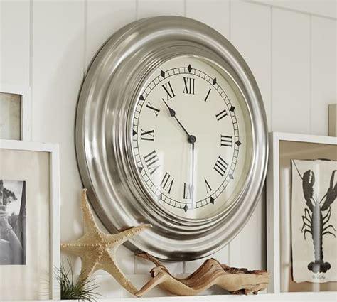 Pottery Barn Clock antique silver clock pottery barn
