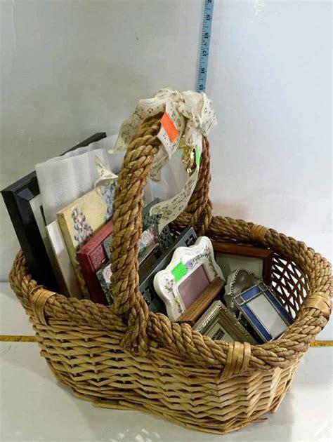 basket home decor basket of home decor photo frames