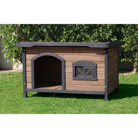 cedar wood dog house brunswick cedar wood flat roof dog house large buy dog kennels