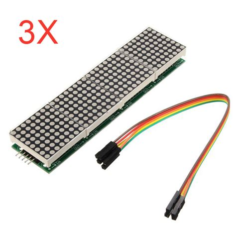 Max Dotted Isi 3pcs 3pcs max7219 dot matrix module 4 in 1 display for arduino alex nld