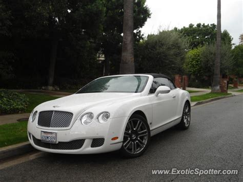 bentley continental spotted in los angeles california on
