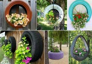 how to diy recycled tire teacup planters