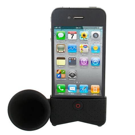 iphone 4 desk stand iphone 4 horn desk stand black